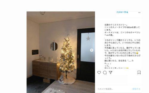玄関のクリスマスインテリア3